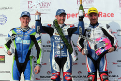 Podium Superstock: 1. Alastair Seeley, BMW, 2. Lee Johnston, BMW, 3. Dean Harrison, Kawasaki