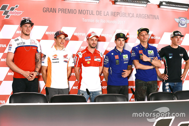 MotoGP rider line up