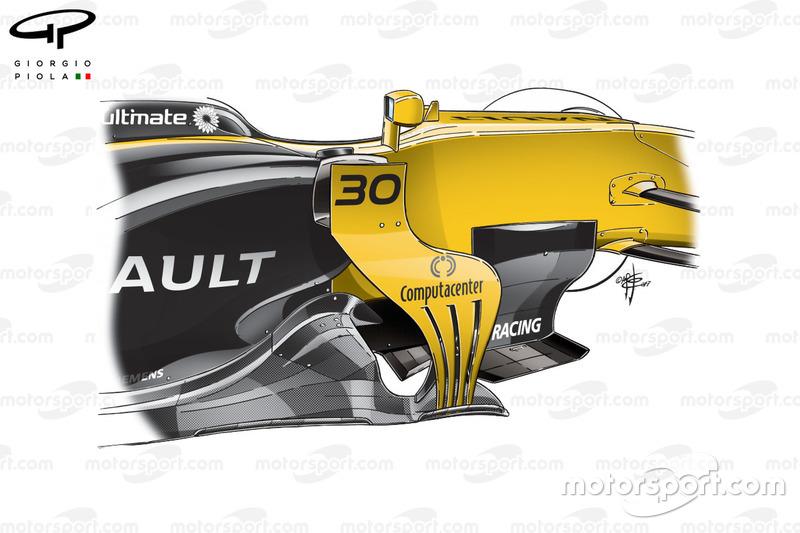 Детали дефлекторов Renault RS17