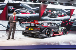 Dieter Gass, Head of Audi Sport with the Audi RS 5 DTM 2017