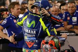 Race winner Maverick Viñales, Yamaha Factory Racing, third place Valentino Rossi, Yamaha Factory Racing