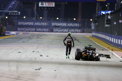 Nico Hulkenberg, Sahara Force India F1 VJM09 crasht bij de start van de race