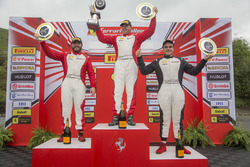 Trofeo Pirelli podium: winner Emmanuel Anassis, second place Carlos Kauffmann, third place Gregory Romanelli