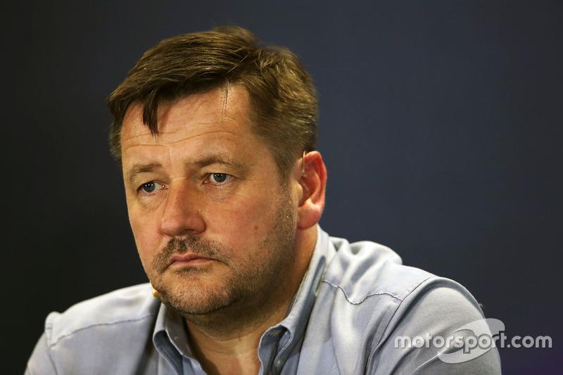Paul Hembery, Direttore Pirelli Motorsport  nella conferenza stampa