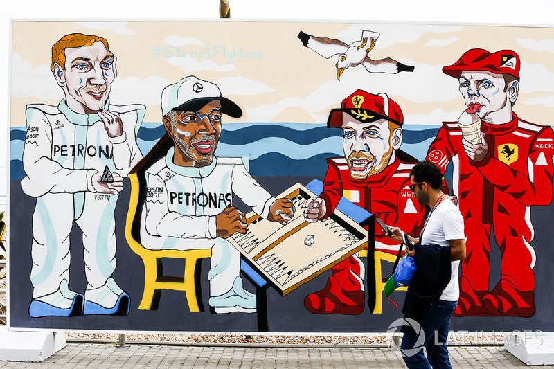 Resim, Valtteri Bottas, Mercedes AMG F1, Lewis Hamilton, Mercedes AMG F1, Sebastian Vettel, Ferrari, Kimi Raikkonen, Ferrari