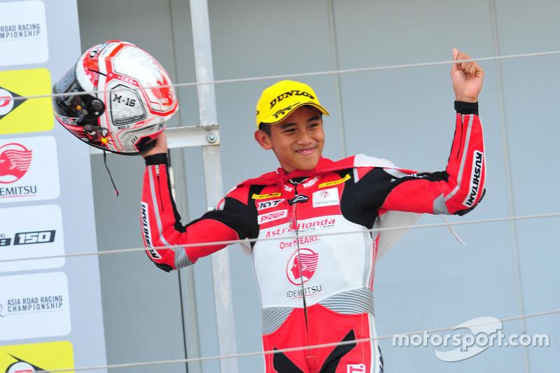 Podium Race 2 AP250: Mario Suryo Aji, Astra Honda Racing Team