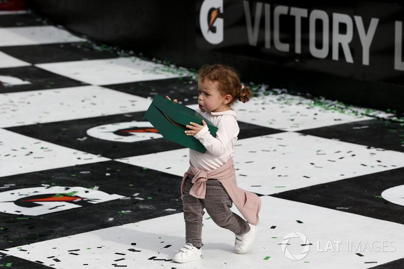 Daughter of #5 Action Express Racing Cadillac DPi: Filipe Albuquerque