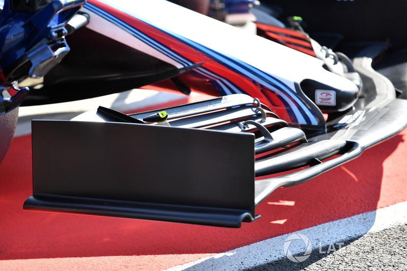 Detalle del alerón delantero del Williams FW41