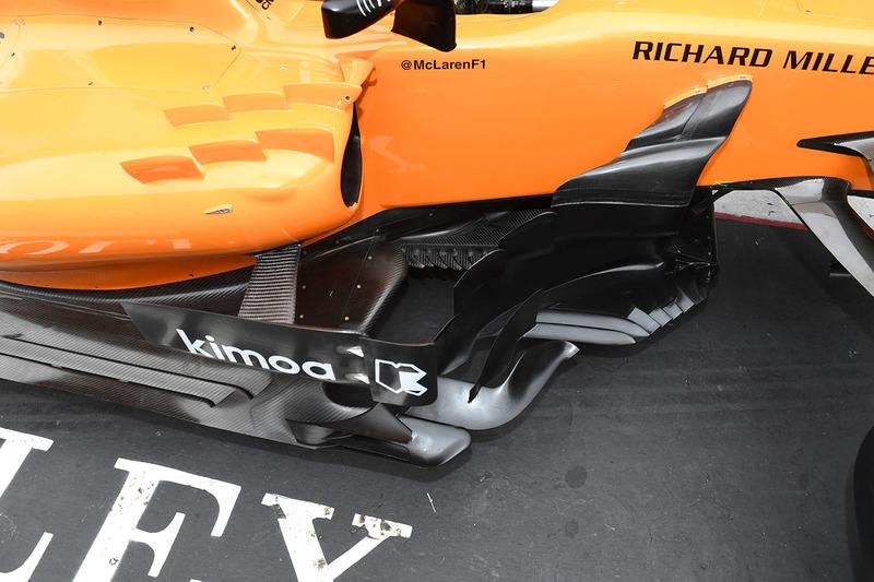 McLaren MCL33 bargeboard, részlet