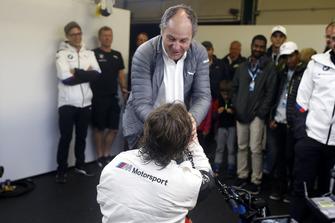 Alex Zanardi, BMW Team RMR con Gerhard Berger, ITR Presidente