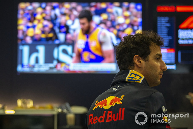 Daniel Ricciardo, Red Bull Racing soutient les West Coast Eagles dans la finale de l'AFL