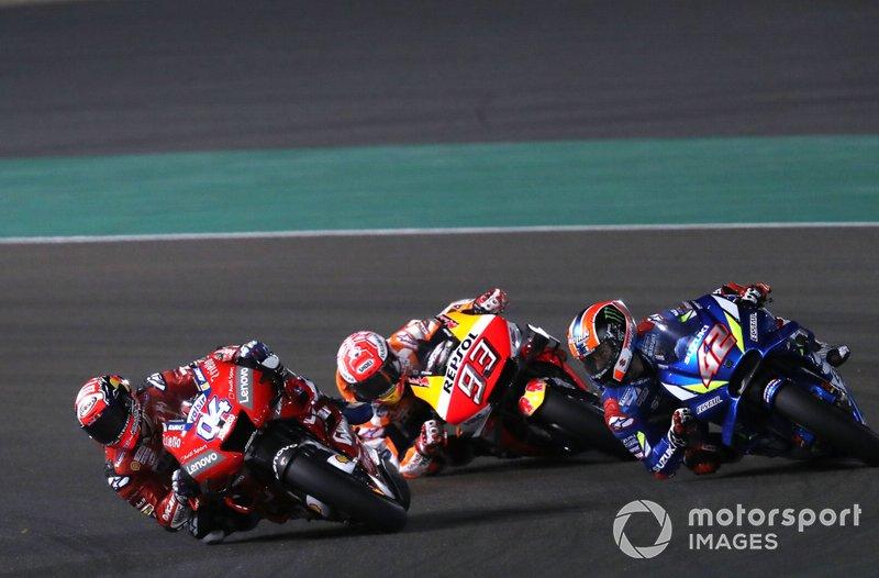 Андреа Довіціозо, Ducati Team, Марк Маркес, Repsol Honda Team, Алекс Рінс, Team Suzuki MotoGP
