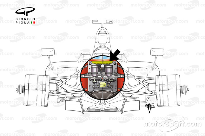 Ferrari F2008 front suspension