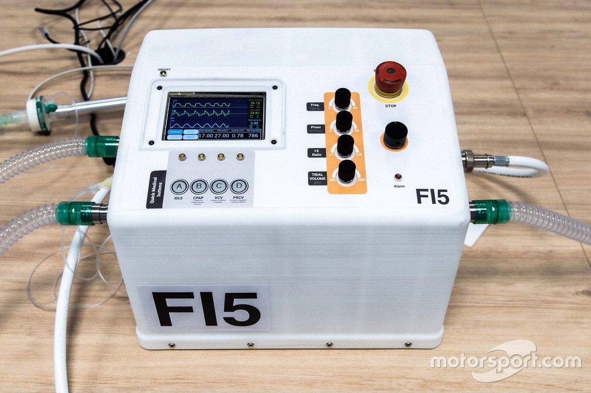 La Formule 1 développe des respirateurs