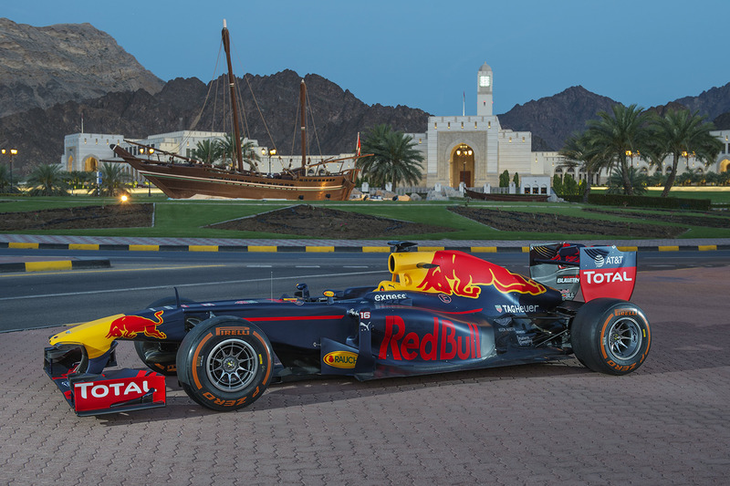 Red Bull Racing during a show run in Oman