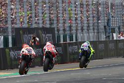 Валентино Росси, Yamaha Factory Racing, Андреа Довициозо, Ducati Team и Марк Маркес, Repsol Honda Te