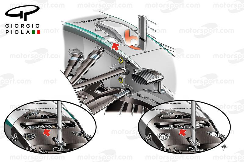 Гідравлічні складові передньої підвіски Mercedes W06