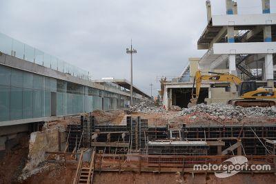 Travaux sur le circuit d'Interlagos