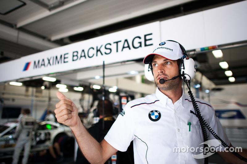 Un ingegnere di Maxime Martin, BMW Team RBM, BMW M4 DTM