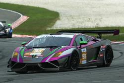 #98 Arrows Racing Lamborghini Gallardo GT3 FL2: Maxx Ebenal, Michael Choi