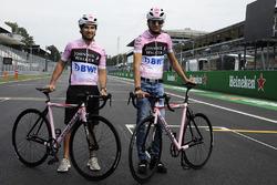 Sergio Perez, Sahara Force India and Esteban Ocon, Sahara Force India F1, bikes