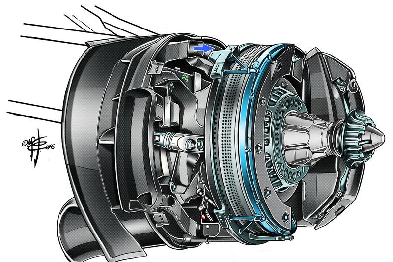 Vordere Bremse, Mercedes W07