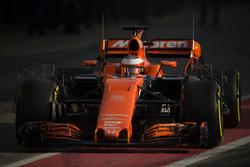 Stoffel Vandoorne, McLaren MCL32, mit Messgeräten