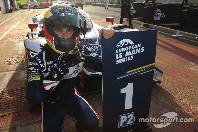 Filipe Albuquerque, United Autosports, celebrates the win