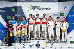 Podium LMP2: Race winners #38 DC Racing Oreca 07 Gibson: Ho-Pin Tung, Oliver Jarvis, Thomas Laurent, second place #31 Vaillante Rebellion Racing Oreca 07 Gibson: Julien Canal, Bruno Senna, Nicolas Prost, third place #28 TDS Racing Oreca 07 Gibson: François Perrodo, Matthieu Vaxivière, Emmanuel Collard