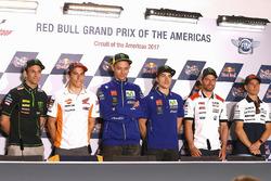 Johann Zarco, Monster Yamaha Tech 3, Marc Márquez, Repsol Honda Team, Valentino Rossi, Yamaha Factory Racing, Maverick Viñales, Yamaha Factory Racing, Cal Crutchlow, Team LCR Honda, Alvaro Bautista, Aspar Racing Team