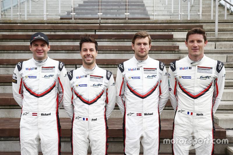 #91 Porsche Team Porsche 911 RSR: Richard Lietz, Frédéric Makowiecki, #92 Porsche Team Porsche 911 RSR: Michael Christensen, Kevin Estre
