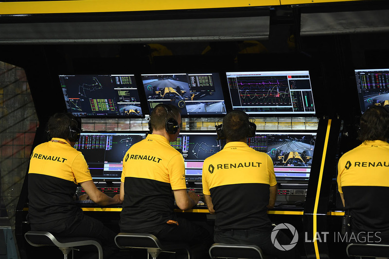 Renault Sport F1 Team, Kommandostand