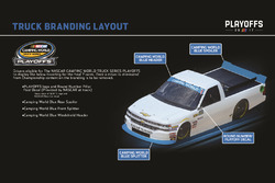 NASCAR Truck branding layout