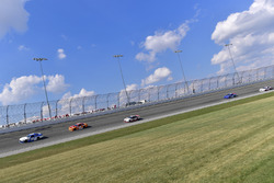 Matt Tifft, Joe Gibbs Racing Toyota, Kyle Larson, Chip Ganassi Racing Chevrolet, Ryan Blaney, Team Penske Ford