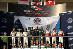 LMGTE Am podium: winners Paul Dalla Lana, Pedro Lamy, Mathias Lauda, Aston Martin Racing, second place Mok Weng Sun, Matt Griffin, Keita Sawa, Clearwater Racing, third place Thomas Flohr, Francesco Castellacci, Miguel Molina