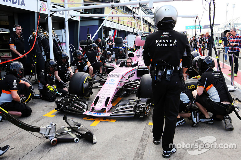 Boxenstopp-Training: Force India F1 Team