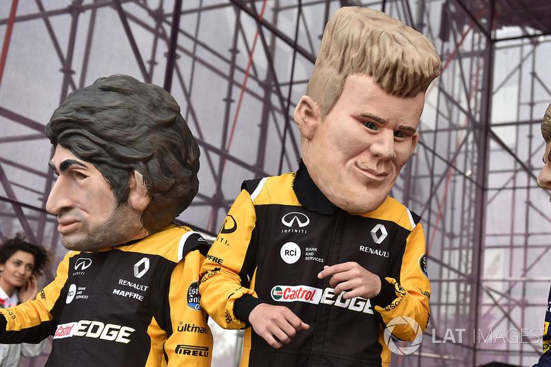 Guiñoles de Carlos Sainz Jr., Renault Sport F1 Team, Nico Hulkenberg, Renault Sport F1 Team