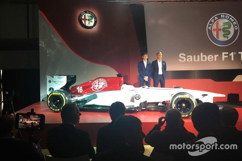 Sauber Alfa Romeo con los pilotos para 2018: Leclerc y Ericcson