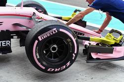 Hypersoft 2018 Pirelli tyre detail of Nikita Mazepin, Sahara Force India VJM10