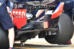 Red Bull Racing RB14, dettaglio del diffusore posteriore