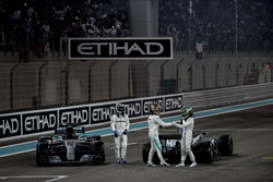 Race winner Second place Valtteri Bottas, Mercedes AMG F1 Lewis Hamilton, Mercedes AMG F1, Felipe Massa, Williams, celebrate