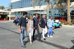 Mark Webber, Susie Wolff, Steve Jones, C4 F1, David Coulthard, Channel Four TV Commentator and Eddie Jordan, Channel 4 F1 TV