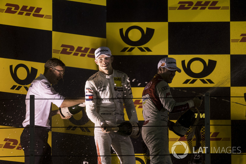 Podio: Paul Di Resta, Mercedes-AMG Team HWA, Mercedes-AMG C63 DTM y Robin Frijns, Audi Sport Team Abt Sportsline, Audi RS5 DTM