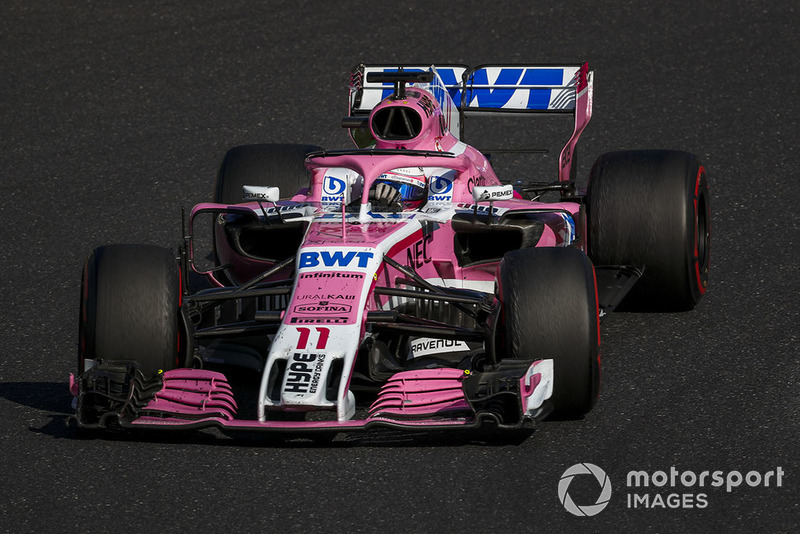 Sergio Perez, Racing Point Force India VJM11 in 2018