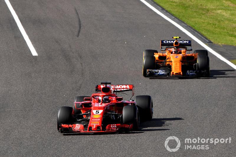 Себастьян Феттель, Ferrari SF71H, Стоффель Вандорн, McLaren MCL33