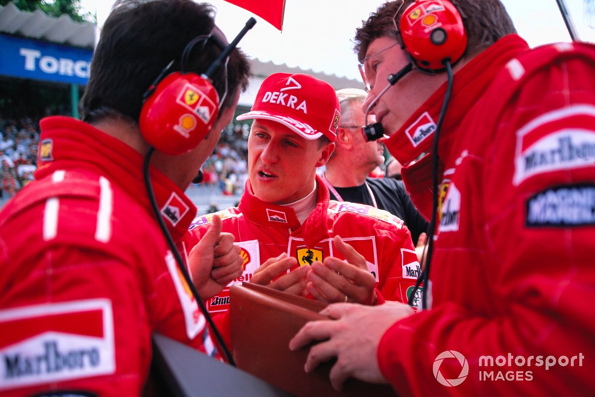 Michael Schumacher, Ferrari con Francesco Barletta e Ross Brawn