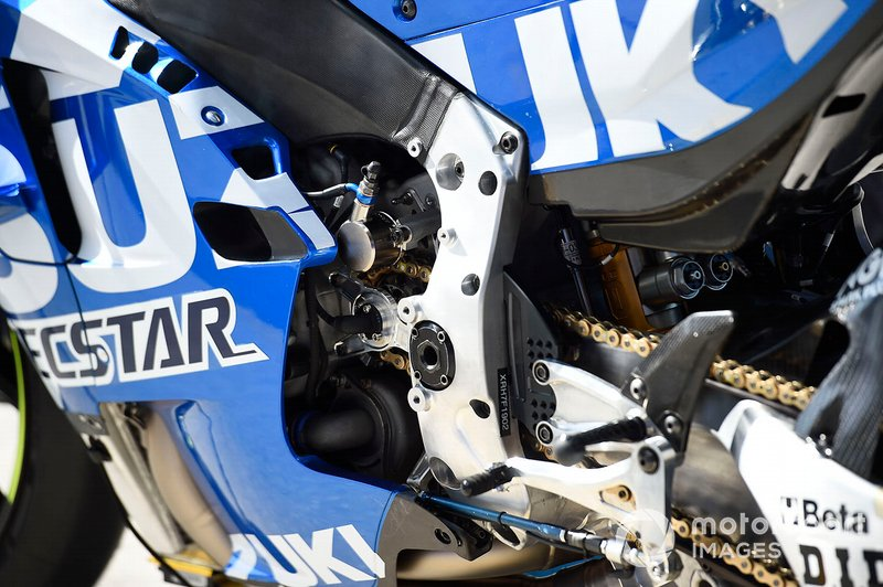 Team Suzuki MotoGP bike detalle