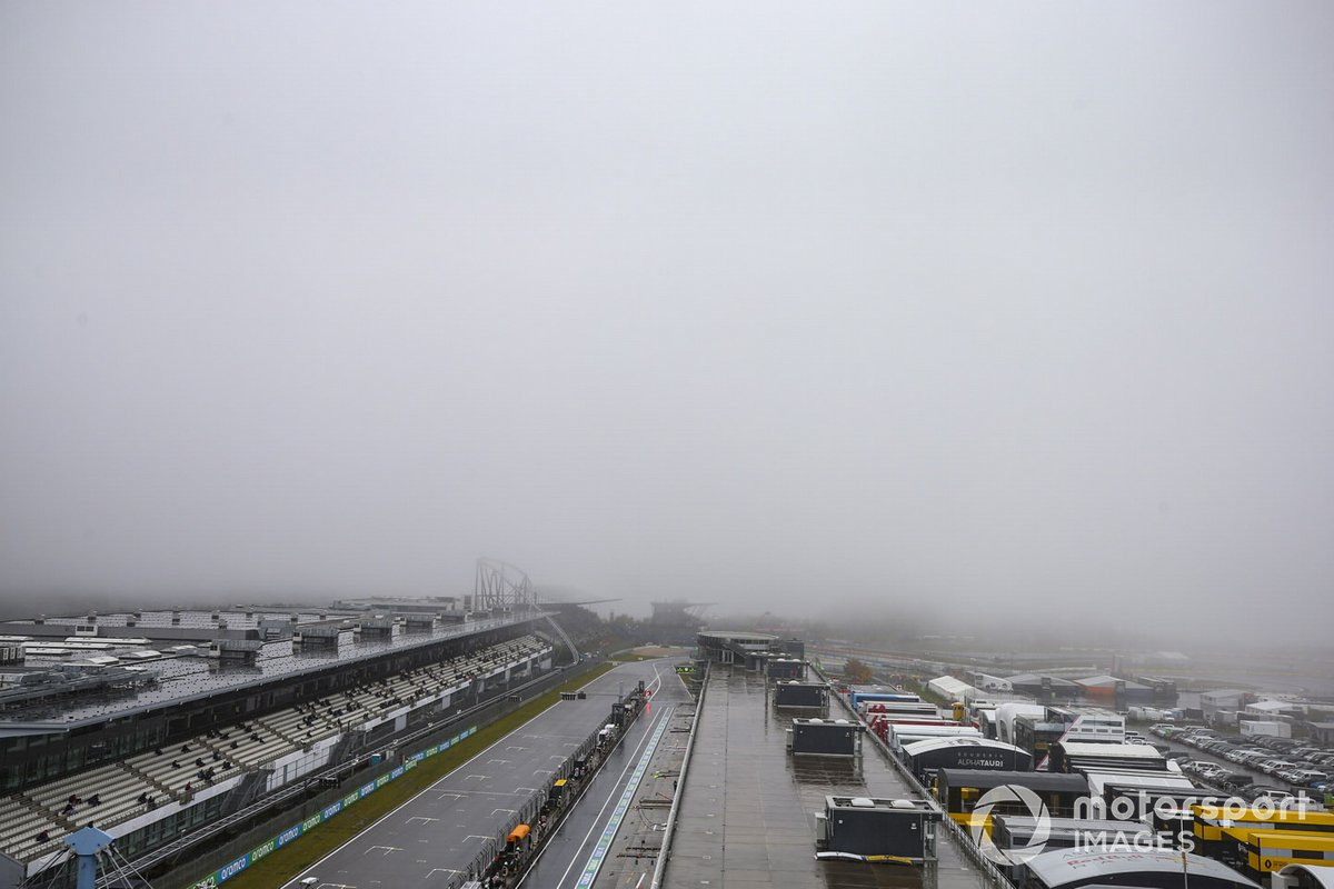 Poor weather at the circuit