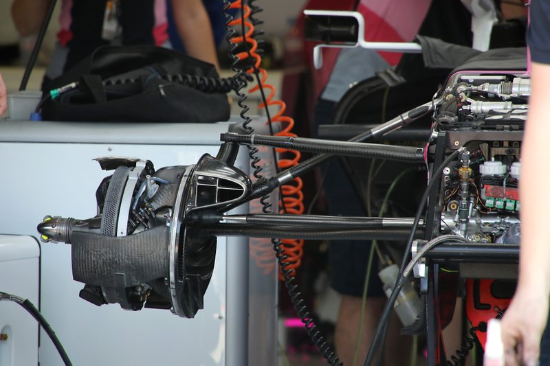 Racing Point RP19, front suspension and brake