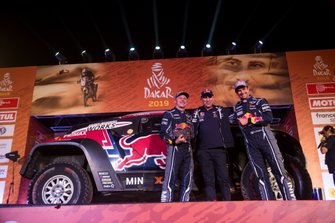 Podium: #308 X-Raid Mini JCW Team: Cyril Despres, Jean-Paul Cottret